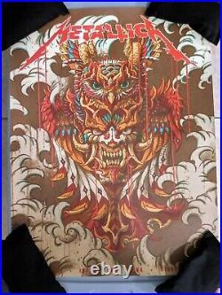 Metallica Concert Poster Wichita, KS 3/4/19 @ Intrust Bank Arena 405/450