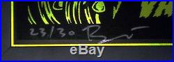 Metallica Custom Framed Ames Bros 17 Vancouver Glow N Dark Concert Poster S/n30