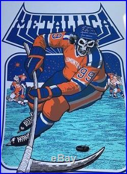 Metallica Edmonton AB CANADA 8 16 17 COMMONWEALTH STADIUM poster rare concert