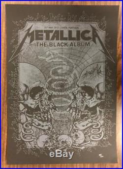 Metallica Lisbon 2012 Original Concert Poster Portugal Silkscreen