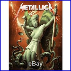 Metallica Poster Sacramento CA Concert Art Print 12/7/18 Golden Cthulhu Justice