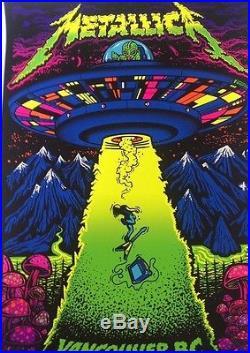 Metallica VANCOUVER BC CANADA 8 14 17 place poster rare concert british columbia