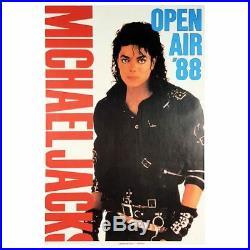 Michael Jackson 1988 Wurzburg Concert Poster (Germany)