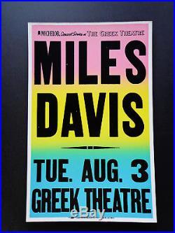 Miles Davis At The Greek Theatre Original Vintage Concert Promotion Poster