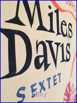 Miles davis RAREST JAZZ VINTAGE ORIGINAL CONCERT POSTER 1960s
