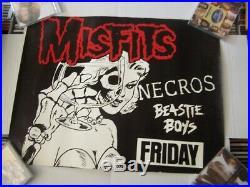 Misfits Beastie Boys Necros RARE 1982 Concert Poster 24x18 original excellent