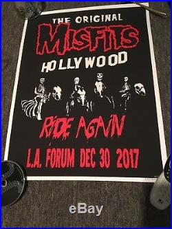 Misfits Official Show Concert Poster Limited 12/30 Forum Sold Out Danzig