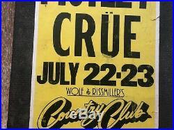 Motley Crue Original 1981 Concert Poster