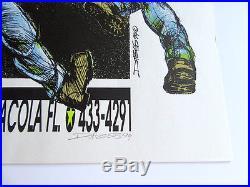 NOFX screen print concert poster by DEREK HESS (Signed, #301/375, 1994, 1st)