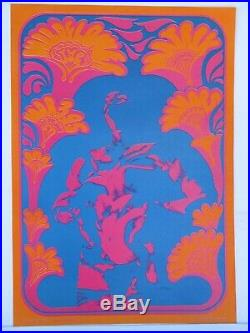 NR9 Wildflower Neon Rose Concert Poster Moscoso like Bill Graham Family Dog