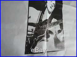 New Order 87 In Concert Uk Subway Poster Rare Off Set Vg Folded Tears Stains Vtg