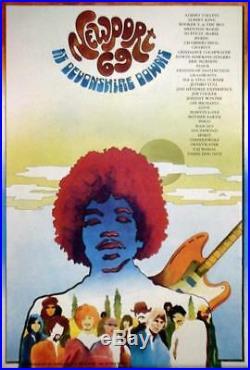 Newport Festival Jimi Hendrix Original Rock Concert Poster