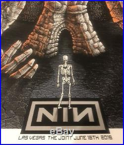 Nine Inch Nails concert poster 6/16/18 Las Vegas The Joint @ Hard Rock
