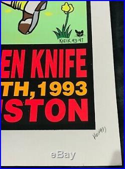 Nirvana 1993 Silkscreen Concert Poster Print by FRANK KOZIK SIGNED #66/800 RARE