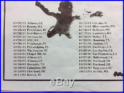 Nirvana Nevermind U. S. Tour Original Concert Poster September October 1991