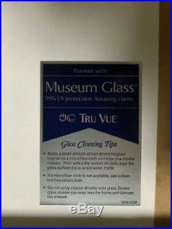 Nirvana Pearl Jam RHCP Original Varient Poster 1991 Concert Ticket Framed Mint