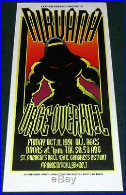 Nirvana St. Andrew's Hall Detroit 1991 Original Concert Poster By Kevin Sykes