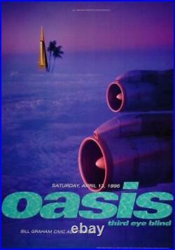 OASIS 1996 SAN FRANCISCO Concert poster BGP141 REX RAY NM