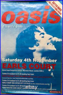 OASIS EARL'S COURT Concert Poster 04/11/95 ORIGINAL VINTAGE OASIS POSTER