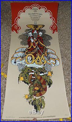 OM Seattle silkscreen concert poster David DAndrea 2008