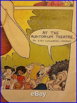 ORIGINAL Janis Joplin Chicago Concert Poster by Jay Zee Lynch 17x21