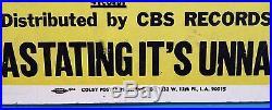 OZZY OSBOURNE 1981 First Solo Concert Poster Long Beach CA, USA Rare Original