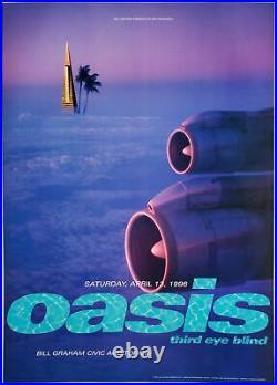 Oasis Concert Poster 1996 BGP-141 San Francisco