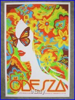 Odesza Boulder 2015 Concert Poster Dan Stiles Silkscreen Original