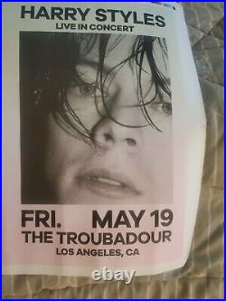 One Direction Harry Styles Concert Poster Uncut Printers Proof Very Rare Origin