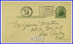 Original 1945 BOB WILLS & his TEXAS PLAYBOYS Concert Handbill / Postcard