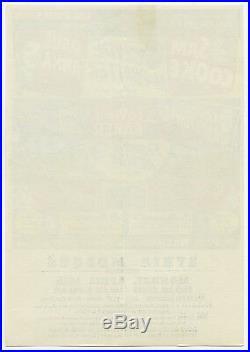 Original 1958 SAM COOKE Jackie WIlson LaVERN BAKER JIMMY REED Concert Handbill