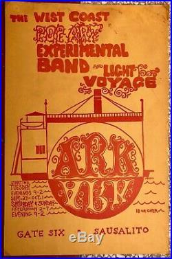 Original 1967 West Coast Pop Art Experimental Band The Ark Marin Concert Poster