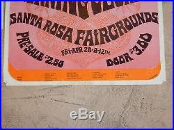 Original 1968 Moby Grape Santa Rosa Fairgrounds Concert Poster, Mod Russian