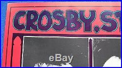 Original 1969 Crosby, Still, Nash & Young Concert Poster Bill Graham Winterland