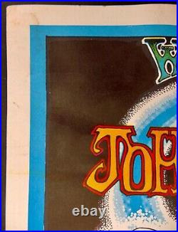 Original 1969 Winterland Concert Poster John Mayhall, Bo Diddley, Muddy Waters