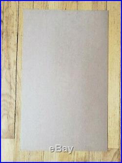 Original (1976) LOU REED Velvet Underground Seattle Cardboard Concert POSTER