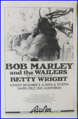 Original 1979 Bob Marley Concert Poster