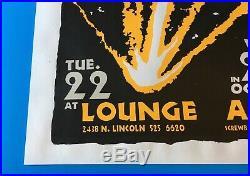 Original 1996 WILCO Concert Poster Lounge Ax Chicago Screwball Press Jeff Tweedy