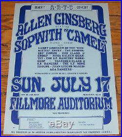 Original ALLEN GINSBERG 1966 FILLMORE Concert Poster Wes Wilson