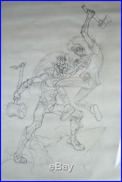 Original Artwork DANGEROUS TOYS Concert Poster PENCILS Killer Clowns Pons Art