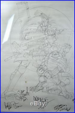 Original Artwork DANGEROUS TOYS Concert Poster PENCILS w 6 AUTOGRAPHS Pons Art