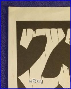 Original Authentic 1973 Zz Top 17 X 23 Concert Poster