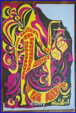 Original Concert Poster-quicksilver Messenger Service-santa Barbara-earl Warren