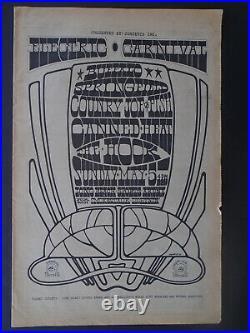 Original Concert Posters Electric Carnaval Buffalo Springfield Kaliedoscope Leon