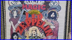 Original LED ZEPPELIN Electric Magic Artist Signed Concert Poster
