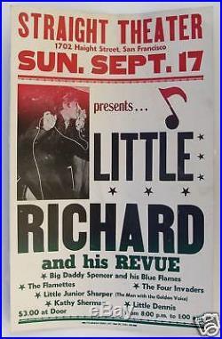 Original LITTLE RICHARD Concert Poster 1967