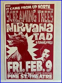 Original NIRVANA Screaming Trees Tad Pine Street Theater concert poster flyer