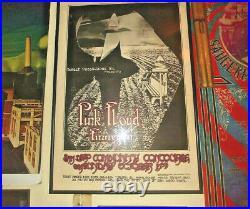Original Pink Floyd Meddle Tour Concert Poster Randy Tuten