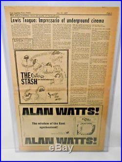 Original Poster SZ JIMI HENDRIX Shrine Auditorium Los Angeles Concert Ad 1967