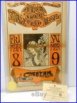 Original Poster SZ Quicksilver Messenger Steppenwolf Concert Ad Venice CA 1968